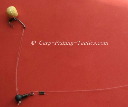 A pop-up carp rig showing lots of movement potential