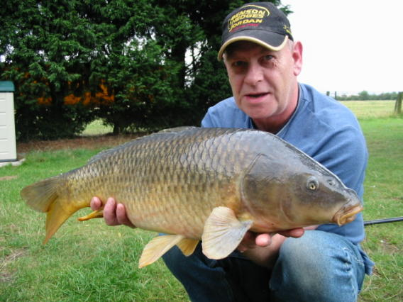 A mid-double common carp