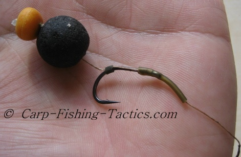 Single hook bait rig turns quickly showing great hooking efficiency