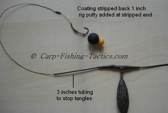 A Tangle-free Carp fishing rigs for single hook bait tactics