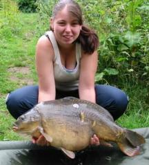 Picture carp caught by friend Louise 22lbs