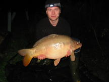 A Twenty Pound Carp caught from Brasenose one lake Linear Oxford