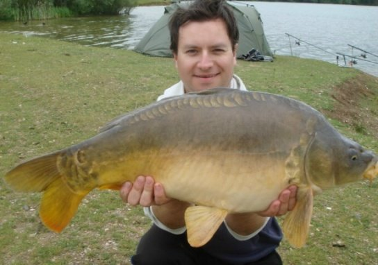 A different strain of carp caught from Bradleys weighing over 14 pounds