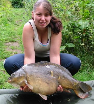 Picture of Lou's Big 22 half Carp from RMC Waters