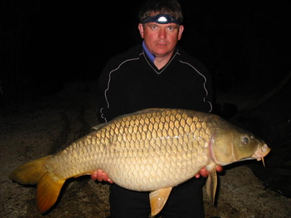 Smithy with a 35 pound common monster carp!