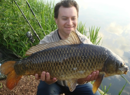 Photo 14 pound common caught with different hooklinks