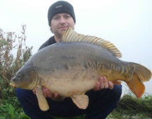 Picture of another big mirror carp from bradleys lake