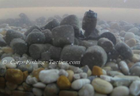 Image of melted pellets on lake bottom