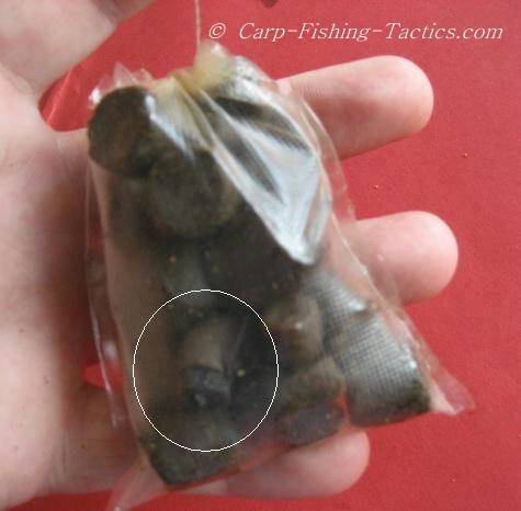Image shows pellets in PVa bags for Casting Out