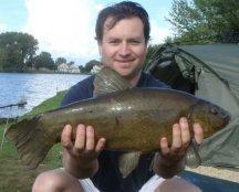 Image of tench caught at Bradleys Lake