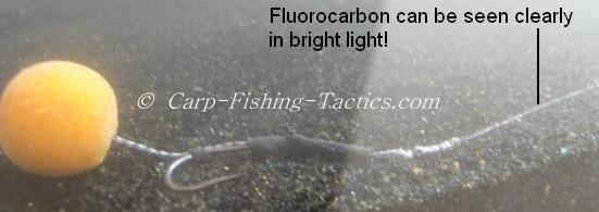 Image shows fluoro line still visible in certain conditions