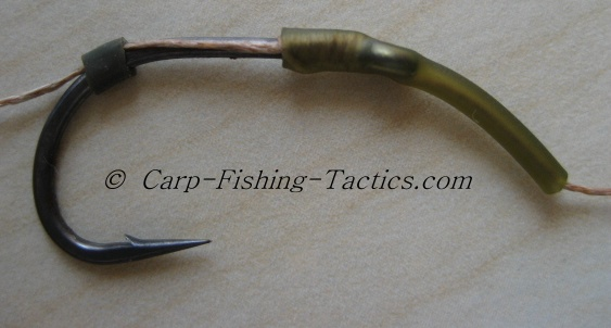 Picture shows shrink tube on hook better hooking potential