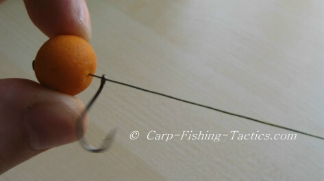 Shows how to test rig effective when fishing